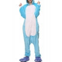 Blue Elephant Cosplay Carnival Fleece Unisex Onesie Sleepwear Pajamas