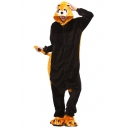 Black and Yellow Racoon Cosplay Fleece Long Sleeve Carnival Onesie Pajama