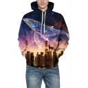 3D Galaxy Printed Long Sleeve Sports Leisure Unisex Hoodie