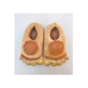 Winter's Warm Plush Lovely Animal Big Feet Unisex Brown Home Slippers