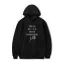 Hot Sale Letter TREAT PEOPLE WITH KINDNESS Rose Printed Long Sleeve Hoodie