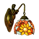 Colored Dome Sunflower Pattern Glass Shade Tiffany Loft 10.2