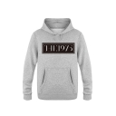 Chic Letter THE 1975 Printed Long Sleeve Casual Regular Fitted Hoodie for Men