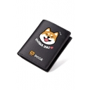 New Stylish Doge Series Printed Juniors' Black Wallet 9.5*11.5cm