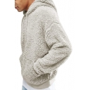 Men's Winter Fashion Long Sleeve Fleece Casual Loose Hoodie with Pockets
