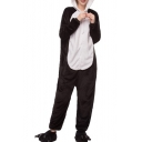 Black and White Panda Carnival Cosplay Onesie Costume Fleece Pajamas