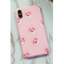 Girls' Lovely Pink Cat Claw Printed iPhone Case