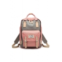 Lovely Color Block Buckle Design Leisure Backpack School Bag for Juniors