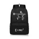 Einstein Relativistic Formula Printed Black Schoolbag Backpack