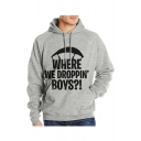 Letter WHERE WE DROPPIN' BOYS Printed Long Sleeve Fit Sweatshirt