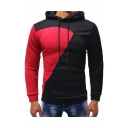 Winter's New Trendy Classic Color Block Long Sleeve Fitted Hoodie for Men