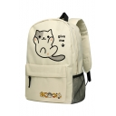 Lovely Cartoon Cat Pattern Schoolbag Backpack for Juniors