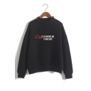 Trendy Heart Electrocardiogram Pattern Letter IT'S BEAUTIFUL DAY TO SAVE LIVES Long Sleeve Mock Neck Sweatshirt