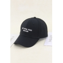 Trendy Letter NOT FROM PARIS MADAME Embroidered Black Hip Hop Baseball Cap