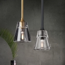 Bell Shade Hanging Light in Antique Brass/Chrome/Black Finish Post Modern Style 1-LED Mini Pendant Lamp