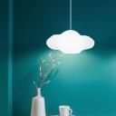 Cloud Shape LED Pendant Lights Contemporary Acrylic 1 Light LED Pendant Fixture 21.5