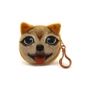 Popular Dog Pattern Ears Detail Zippered Coin Purse for Girls