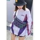 Trendy Geometric Pattern Sports Colorful Purse Chest Bag
