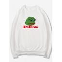 Cute Cartoon Pepe the Frog Letter SAD FROG Pattern Leisure Sports Unisex Sweatshirt