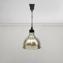 Extendable Dome Pendant Lamp Industrial Brushed Steel Hanging Light in Bronze for Kitchen