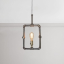 1 Light Pipe Shade Hanging Lamp Industrial Iron Decorative Pendant Light for Coffee Shop