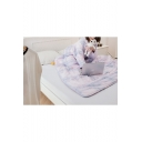 Striped Plush Warm Sleeves Quilt Multifunction Wearable Sofa Blanket 1.5*2.0M