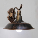 Aged Brass/Copper/Rust Barn Wall Mount Light Retro Style Metal 1 Light Wall Sconce  for Porch