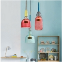 Dome/Cylinder/Bell Shaped Hanging Light Nordic Style Glass Shade LED Pendant Lamp for Bar Restaurant