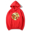 Cartoon Figure Long Sleeve Casual Cozy Unisex Hoodie