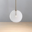 Sphere Shaped 1 Light Pendant Lamp in Gold Finish Contemporary Style Clear Glass Hanging Light