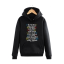 Classic Old Friends Long Sleeve Letter Printed Leisure Hoodie
