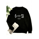 Unisex Long Sleeve Round Neck Formula Printed Cozy Sweatshirt