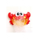 Hot Sale Crab Shaped Red Automatic Bubble Bath Machine with Music for Baby