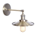 Iron Railroad Wall Lamp Retro Style 1 Head Lighting Fixture in Bronze for Corridor