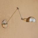 1 Bulb Swing Arm Wall Light Sconce Retro Style Metal Wall Light in Bronze for Study Room