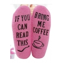 Letter IF YOU CAN READ THIS BRING ME COFFEE Pattern Warm Plush Fleece Socks