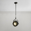 Wire Guard Ceiling Pendant Light Industrial Rotatable Steel Spotlight for Mall Restaurant