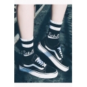 Street Style Letter Striped Unisex Basketball Knee-High Socks