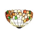 Brown Treasure Flower Motif Handmade Shell Shade Wall Sconce 12
