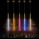 Magic LED Pendant Lights Post Modern Bubble Glass Tube Single Led Hanging Pendant Lights