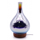 Hot Sale 3D 7-Color LED Night Lamp Glass Humidifier Aromatherapy Machine