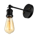 Single Bulb Suspender Wall Sconce in Black Finish for Bedside Pathway Balcony