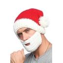 Hot Sale Winter's Warm Christmas Santa Claus Cap with Beard Wind Mask