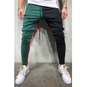 Winter's New Fashion Colorblock Drawstring Waist Hip Hop Style Pants