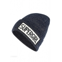 Winter's New Arrival Wool Knit Fashion Letter SUPER GIRL Printed Unisex Beanie