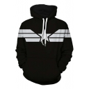 Black Colorblock Long Sleeve Sports Hoodie