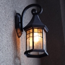 Aged Pewter Brushed Outdoor LED Wall Light