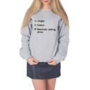 Long Sleeve Crewneck Letter Single Taken Mentally Dating Jimin Printed Fitted Sweatshirt