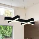 Criss Cross LED Chandelier Modern Lighting 39
