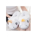 Hot Sale Unicorn Printed Warm Plush Home Shoes Unisex Lovely Slippers